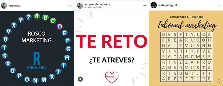 Ideas Creativas Instagram - Retos