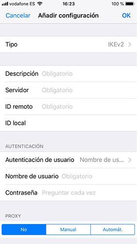 Cómo configurar VPN en iOS