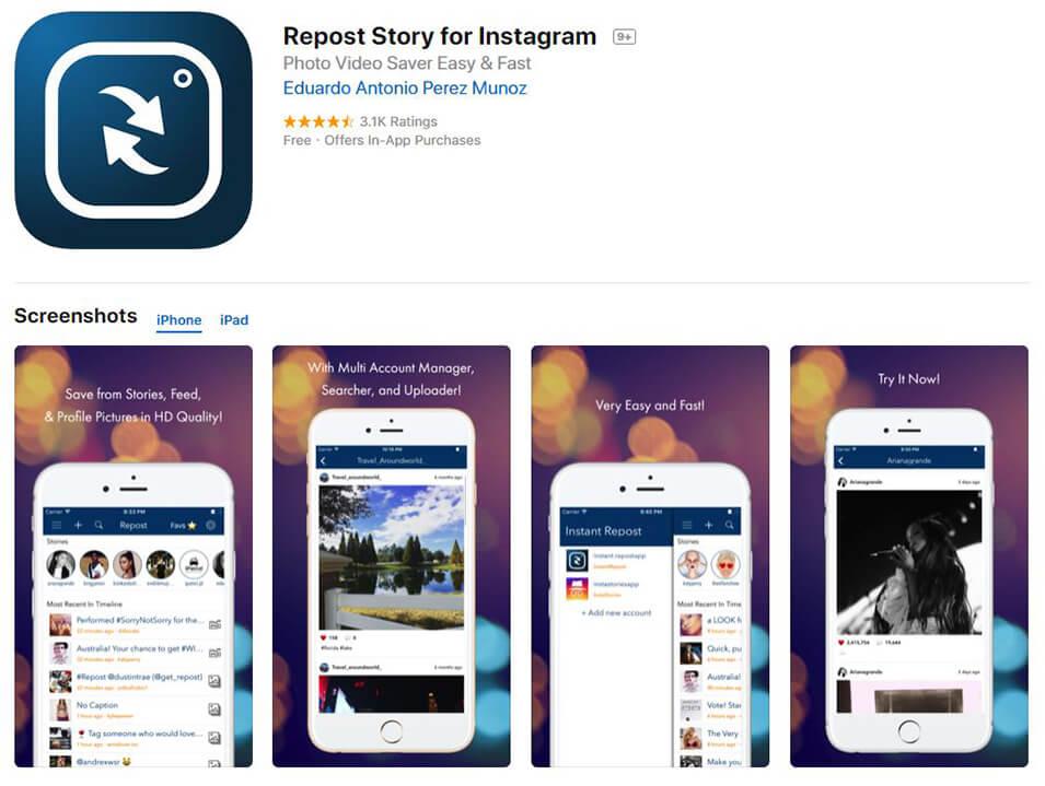 Descargar historia desde iPhone