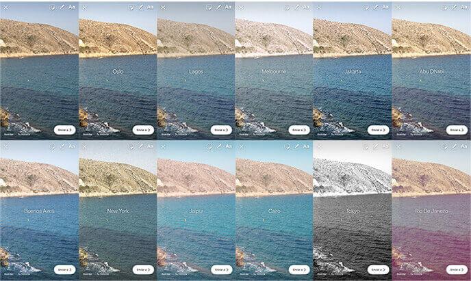 Filtros Historias Instagram