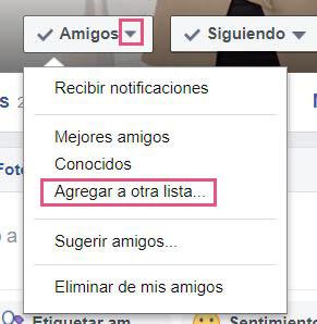 Listas Facebook - Agregar