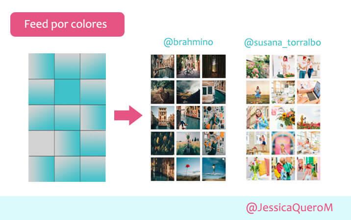 Feed colores ejemplos