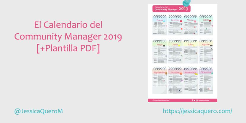 Portada Calendario del Community Manager 2019