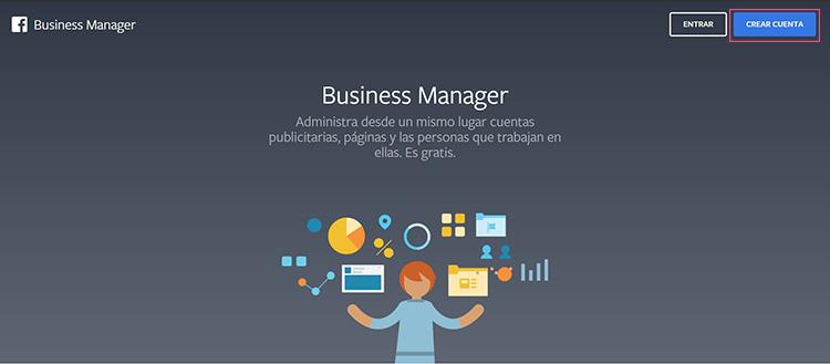 Crear cuenta en Business Manager
