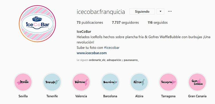 Biografía de Instagram - Icecobar