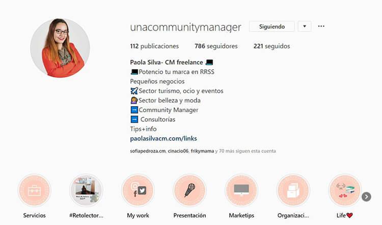 Biografía de Instagram - Paola Silva